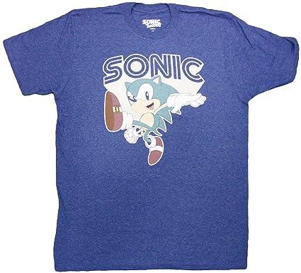 Amazon Com Sonic The Hedgehog Throwback Hedgehog Adult T Shirt