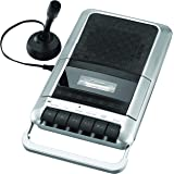 Sylvania SRC124 Cassette Player/Recorder with Microphone, Headphone Jack, Aux in