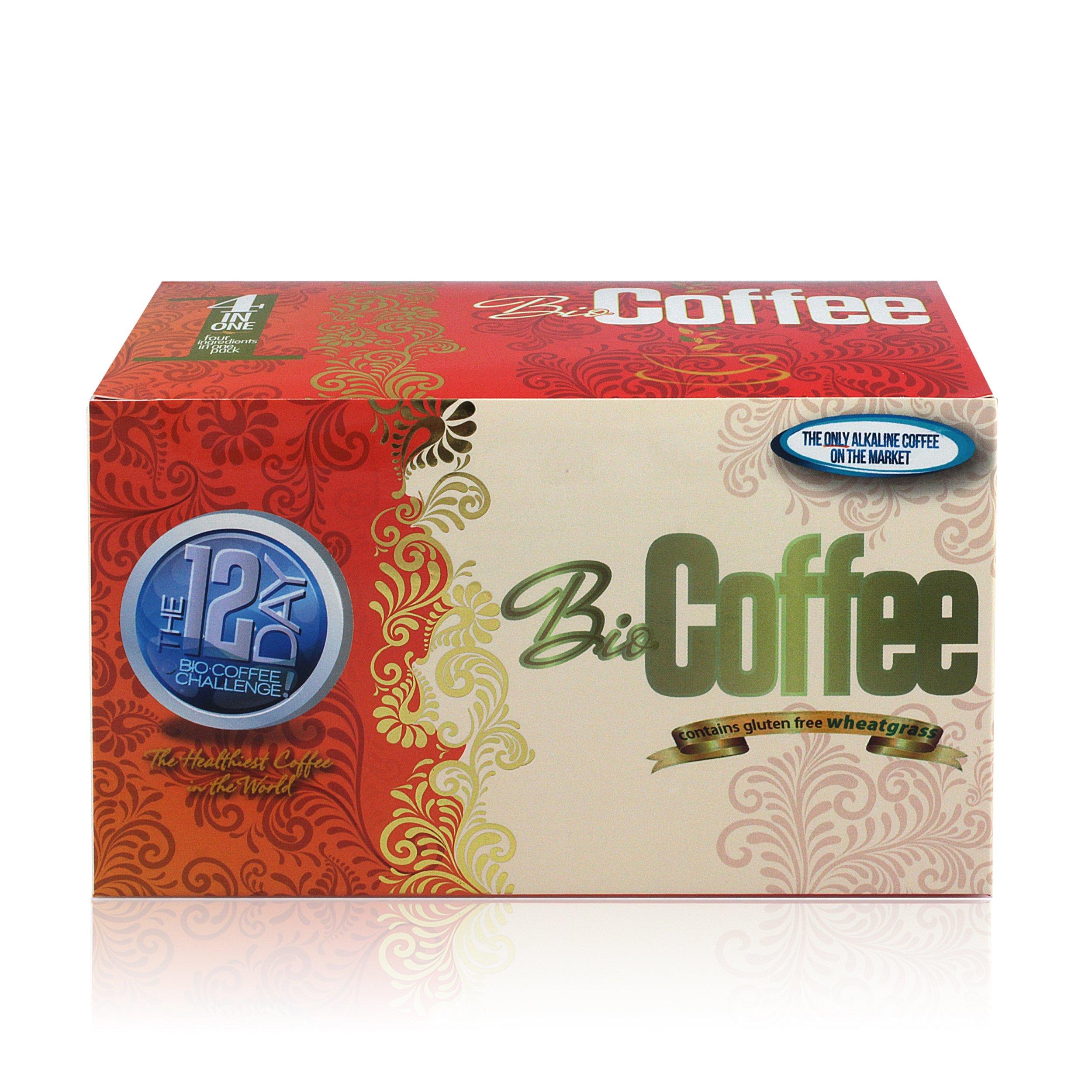 Bio Coffee- First Organic Instant Non-dairy Alkaline Coffee (1 Box) by Bio Coffee