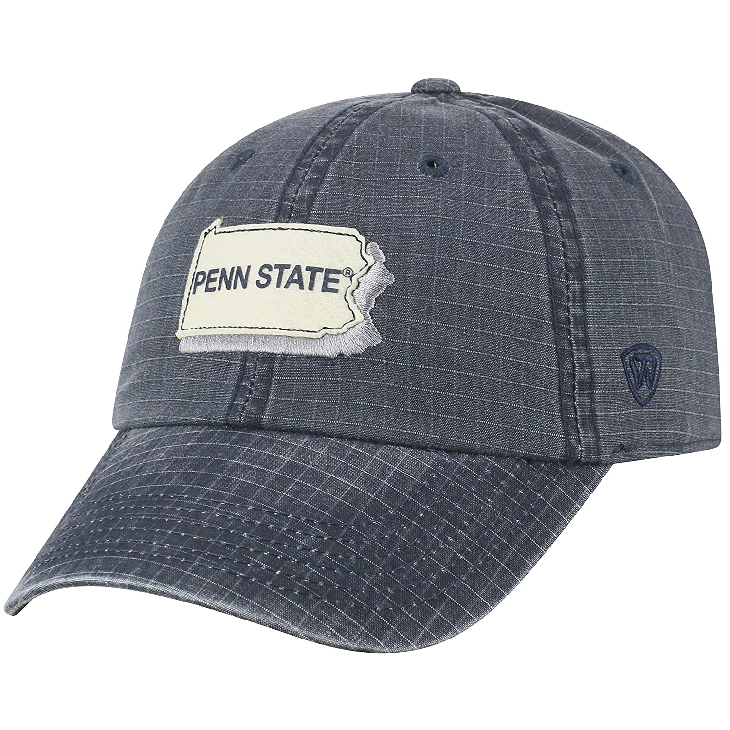 3b4d078a9c2 Amazon.com   Top of the World Penn State Nittany Lions Official NCAA  Adjustable Stateline Cotton Hat Cap 457109   Sports   Outdoors
