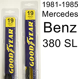 "product image for Mercedes Benz 380 SL (1981-1985) Wiper Blade Kit - Set Includes 19"" (Driver Side), 19"" (Passenger Side) (2 Blades Total)"