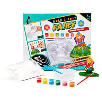 Amazon Com Mold And Paint Fairy Diy Craft Kit Fairy Garden Craft