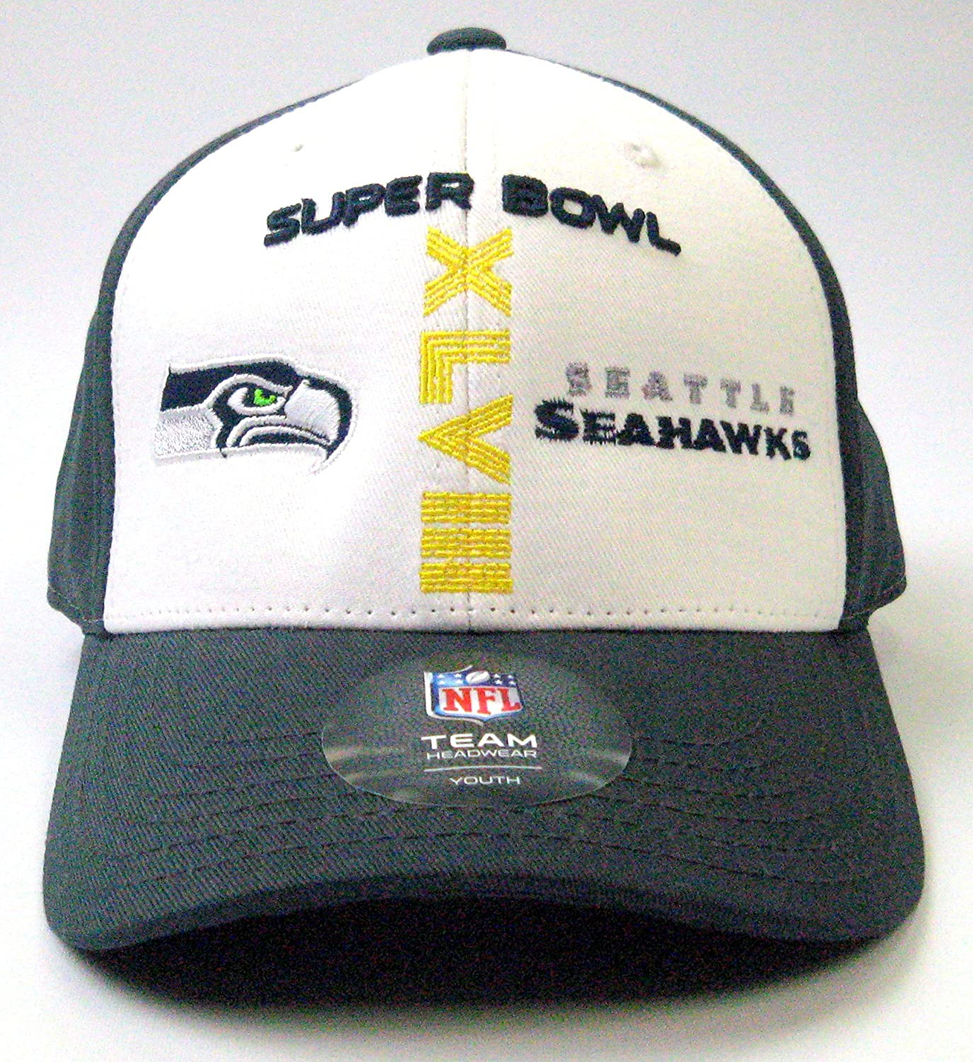 96f4ec6a Seattle Seahawks Super Bowl XLVIII NFL Youth Special Edition Adjustable  Grey/White Cap