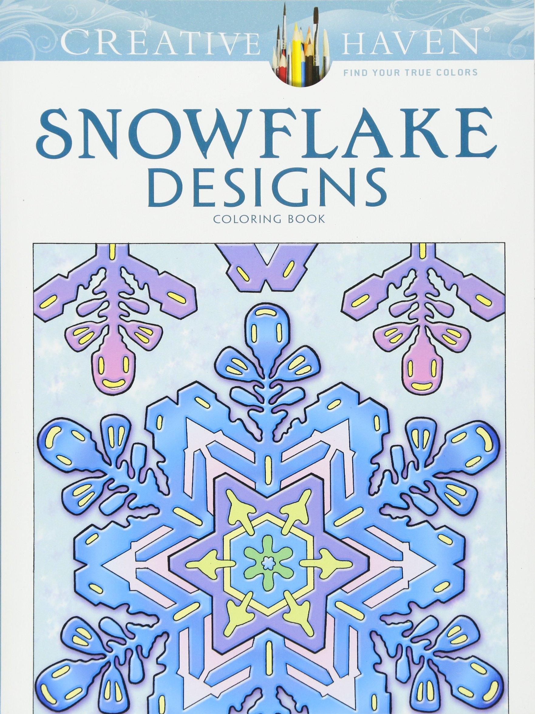 amazon com creative haven snowflake designs coloring book