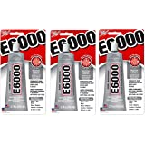 E6000 230010 Craft ICWnaE Adhesive, 3.7 Fluid Ounces (Pack of 3)
