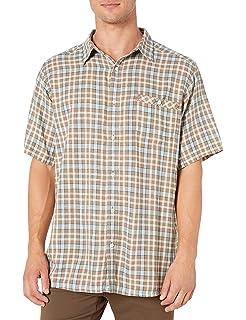 Mountain Khakis Men/'s Spalding Gingham Short Sleeve Shirt XX-Large Sage