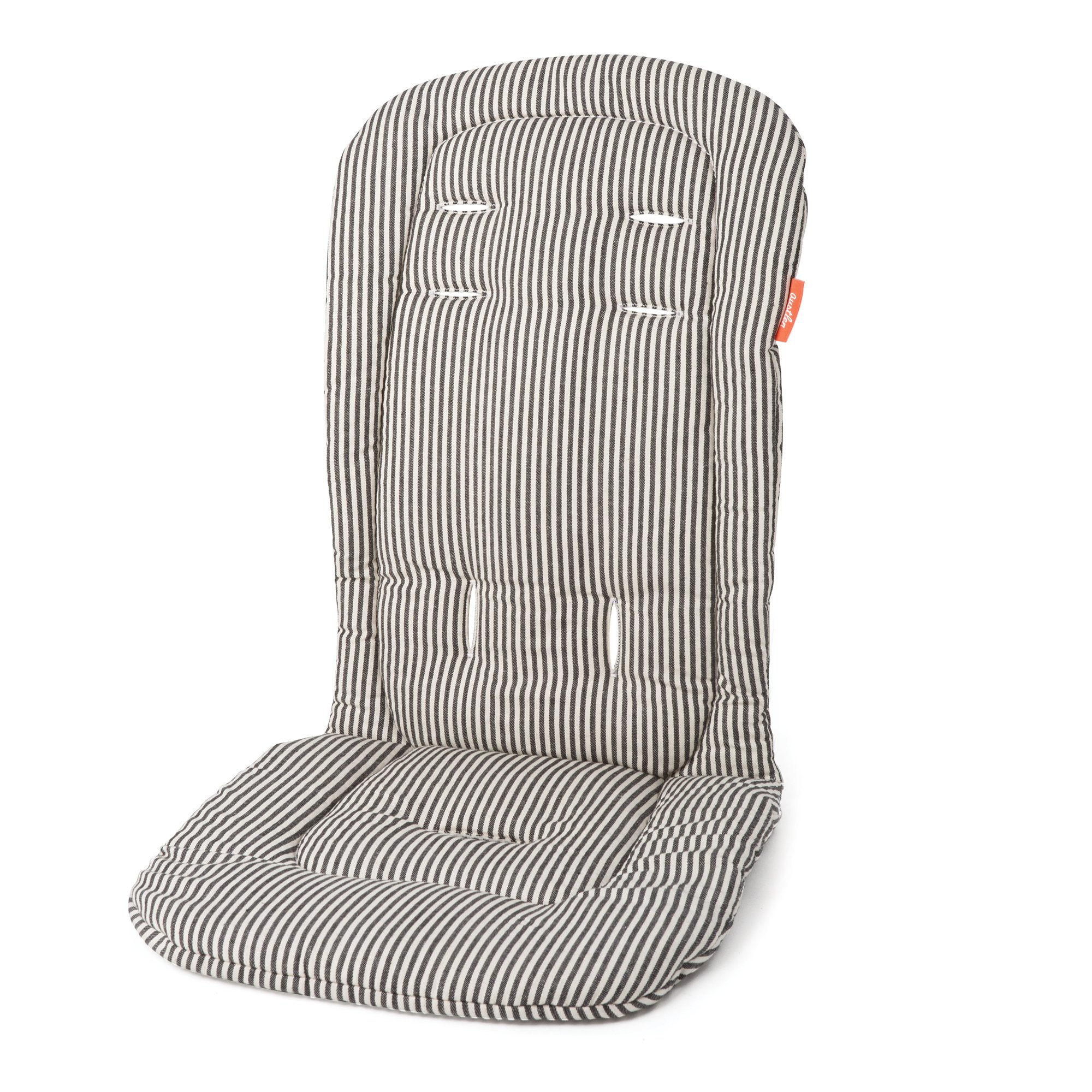 Austlen Entourage Second Seat Liner: Washable Baby Stroller Accessories Cushion - Black Striped