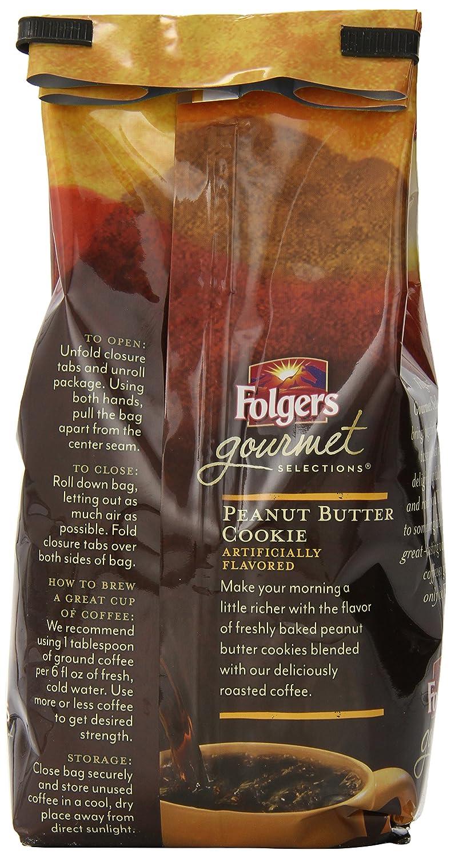 amazon com folgers peanut butter cookie flavored ground coffee amazon com folgers peanut butter cookie flavored ground coffee 10 ounce grocery gourmet food