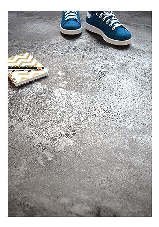 Dalle Sol Pvc Clipsable Click 5g Béton Gris Argenté Amazon Fr