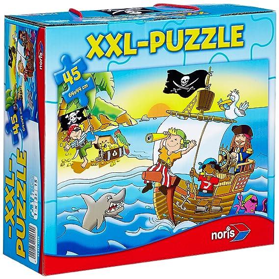 Noris 606034960 - Puzzle de 45 piezas (tamaño gigante), diseño de piratas [importado de Alemania]: Amazon.es: Juguetes y juegos