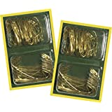 Alazco 400pc Christmas Holiday Ornament Hanging Hooks GOLD (200 Large, 200 Small)
