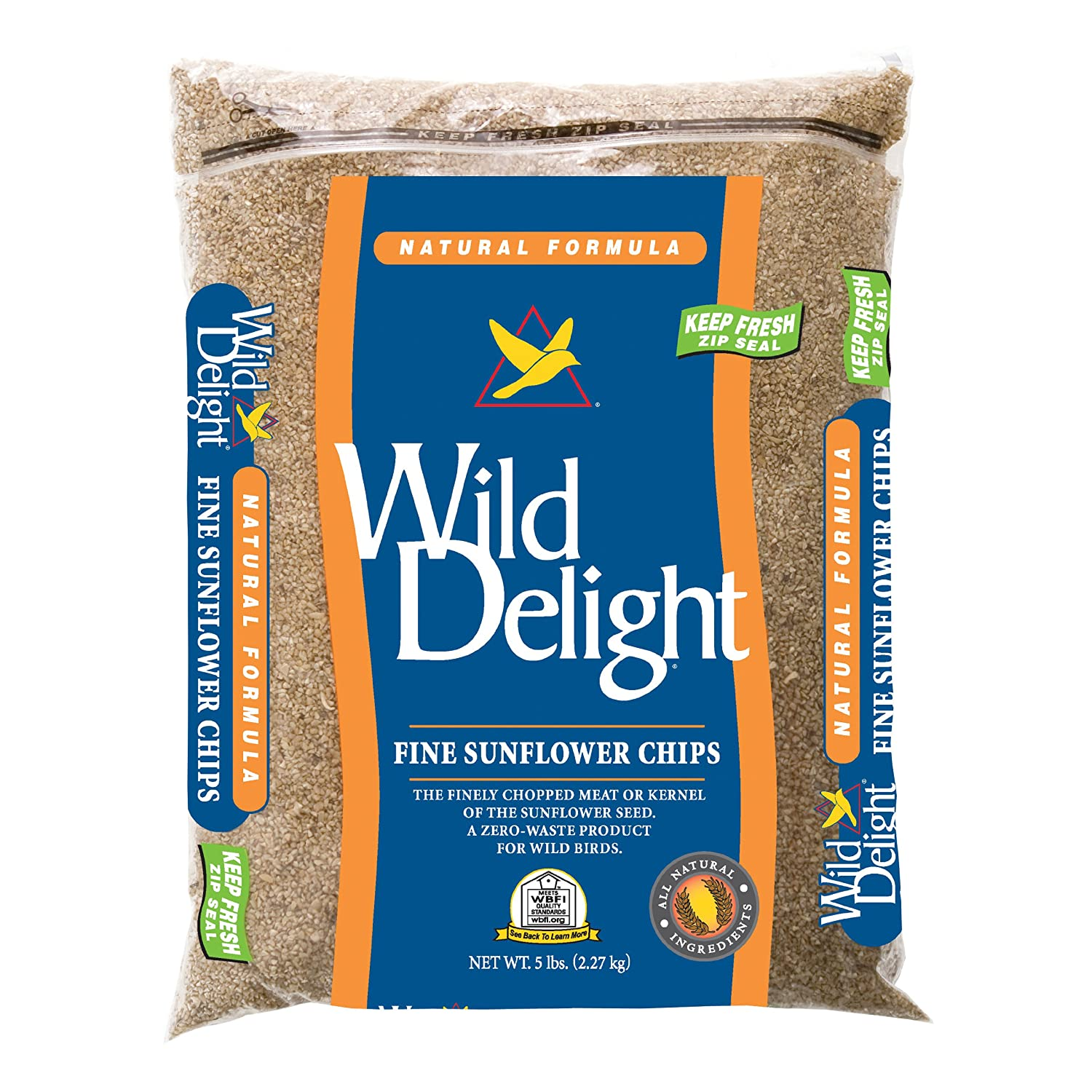 D & Commodities Ltd Wild Delight 385080 Natural Formula Fine Sunflower Chips, 5 Pounds D & D Commodities Ltd