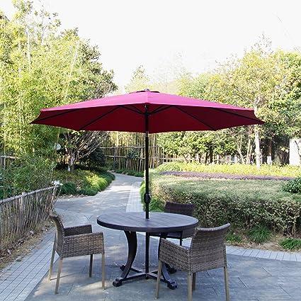 12a47b919a Kinbor Offset Patio Umbrella 10F Outdoor Table Umbrella Garden Furniture  with Crank and Tilt,Octagon,Burgudny