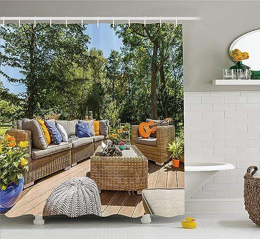 Adacrazy Casa Adosada De Verano Terraza Balcón Con Imagen De