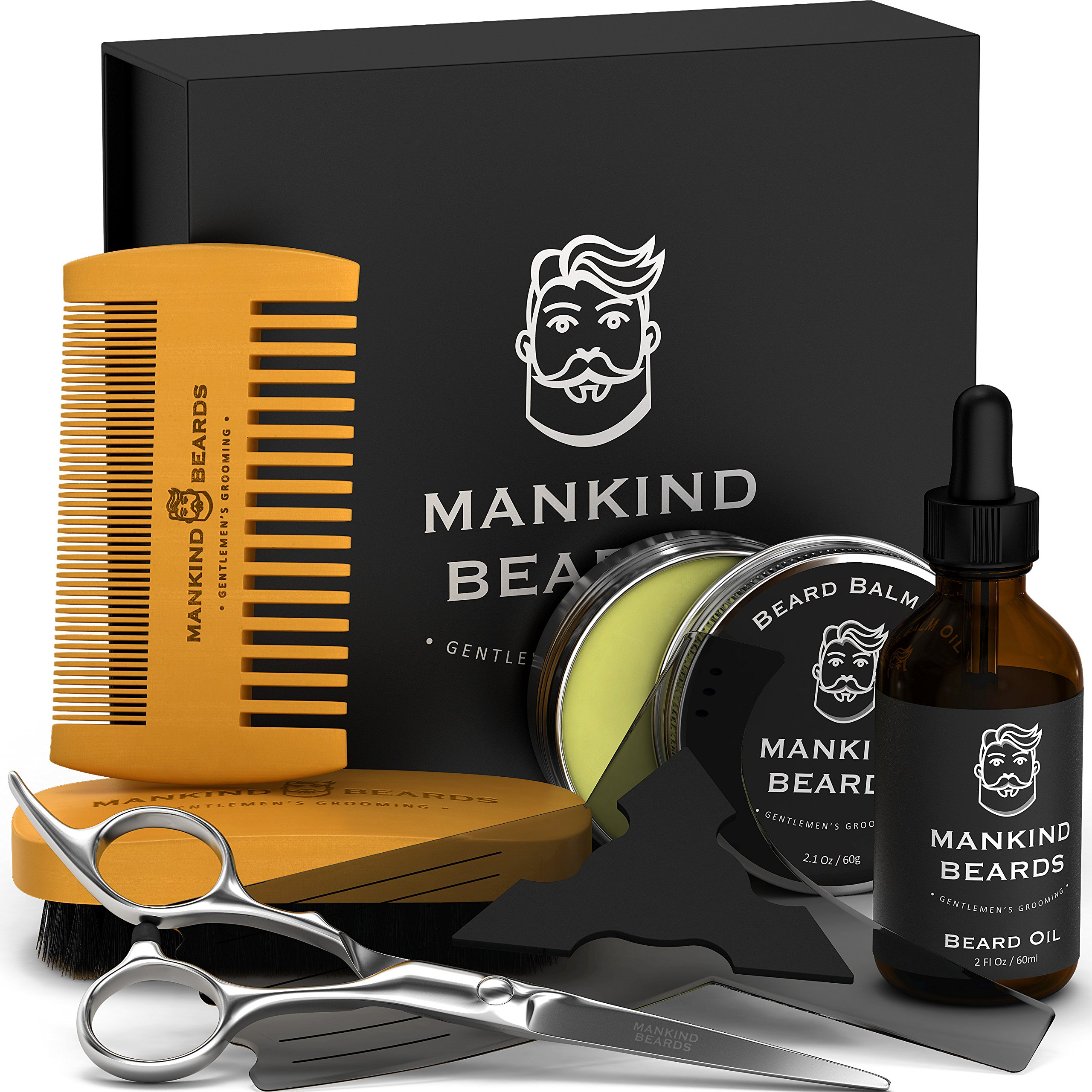 Complete Gentleman's Beard Kit - 7 Piece Luxury Beard Grooming Kit - Create The Perfect Look With Mankind Beards – The Brand Of Excellence