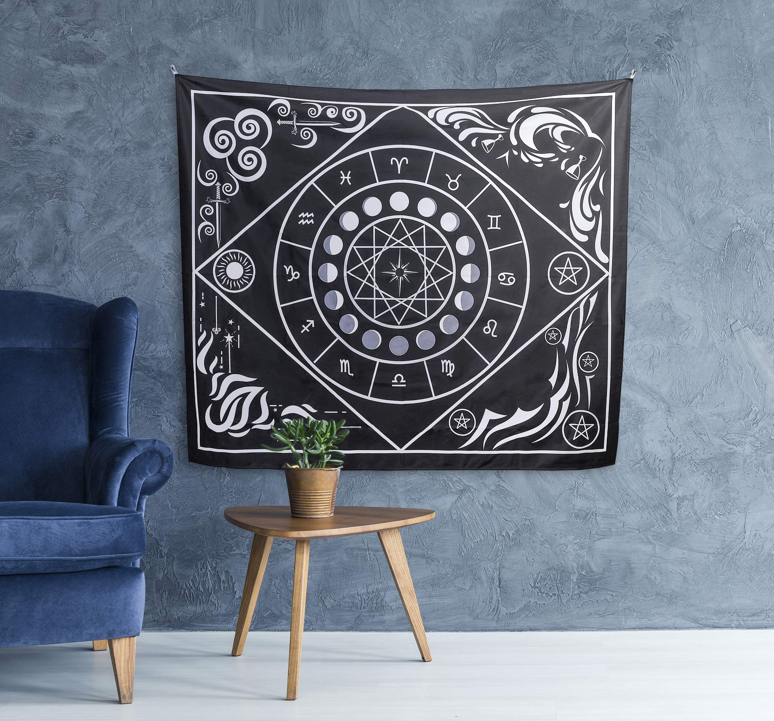 Tarot Cloth and Moon Tapestry Bundle by Hidden Crystal Tarot (Image #8)