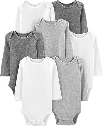 Simple Joys by Carter's 7-Pack Long-Sleeve Bodysuit Unisex bebé