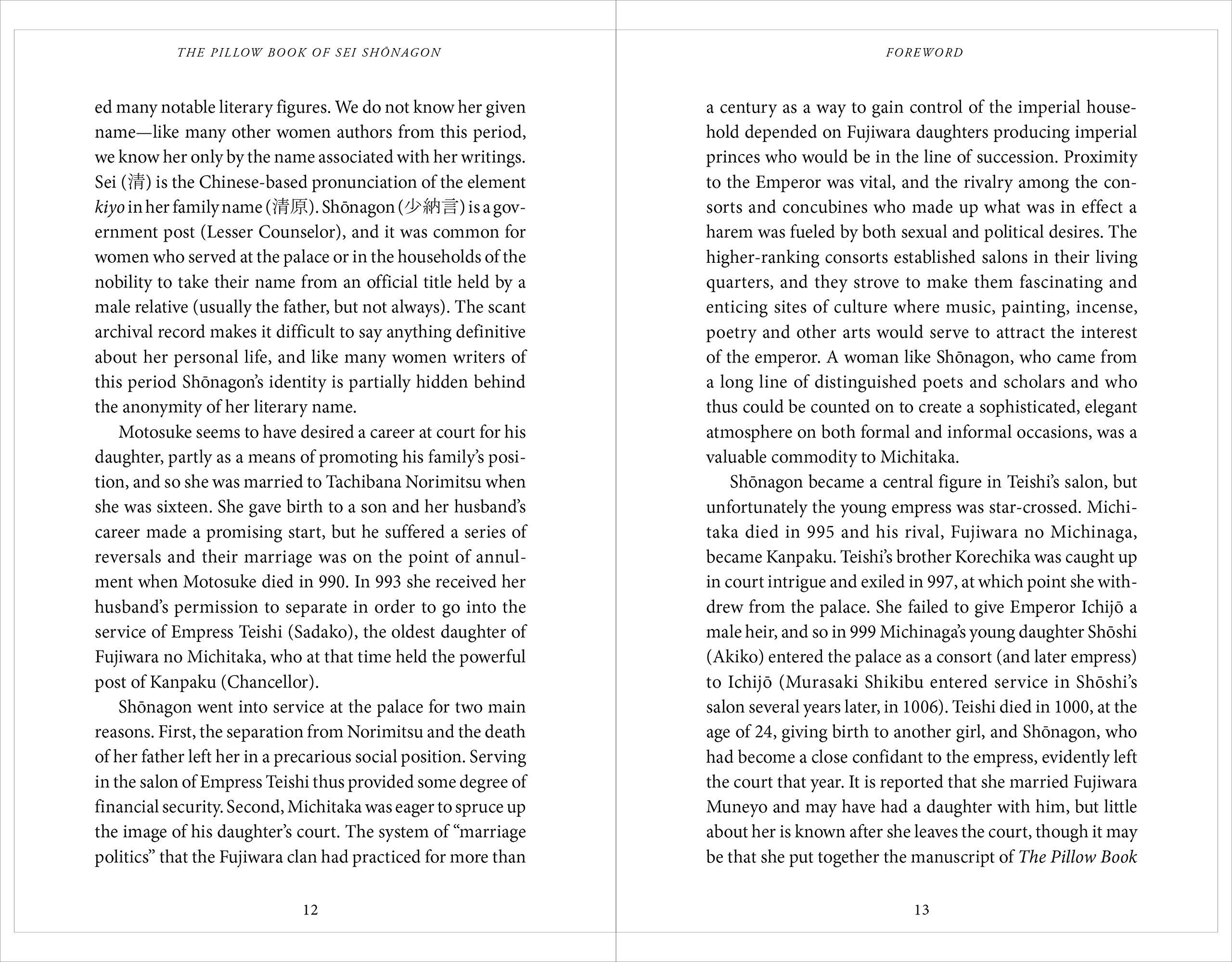 Amazon.com: The Pillow Book of Sei Shonagon: The Diary of a Courtesan in  Tenth Century Japan (9784805314623): Arthur Waley, Dennis Washburn: Books