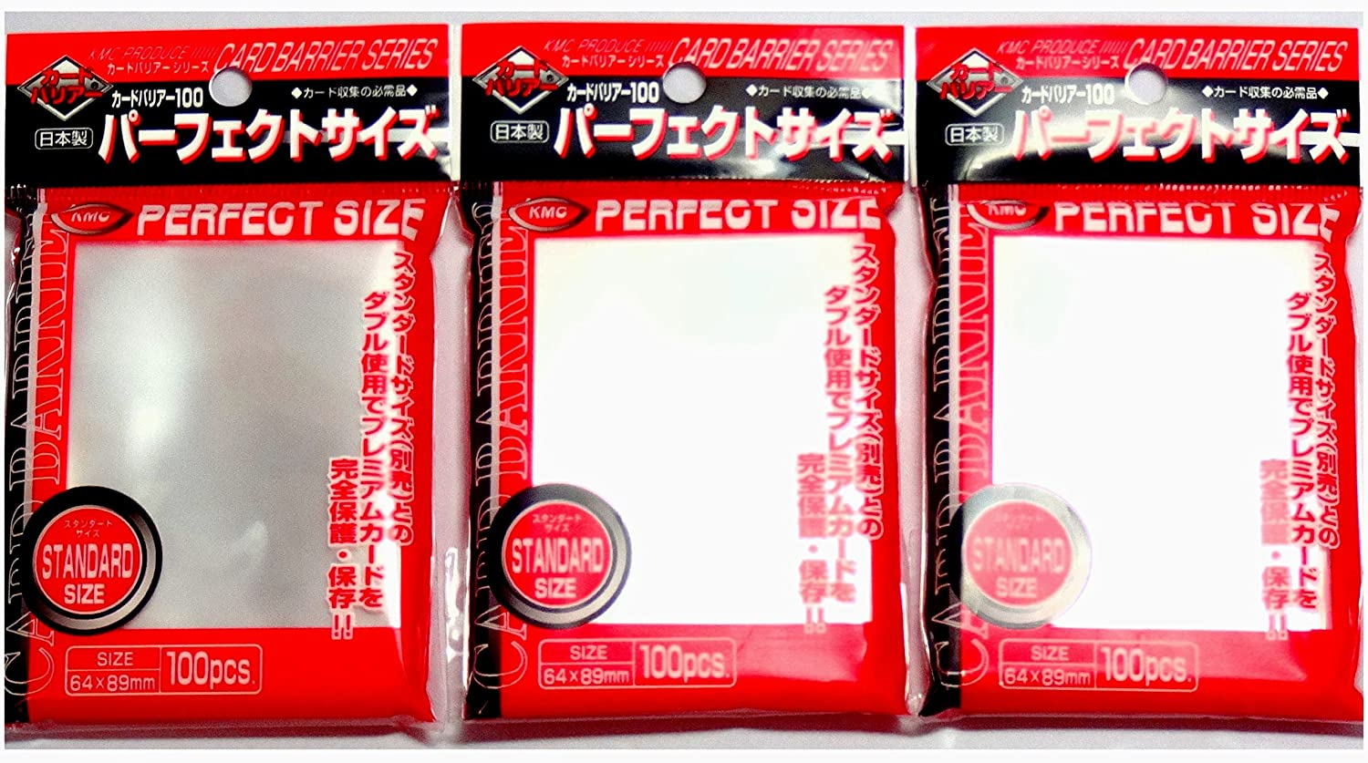 400 KMC Perfect Size SLEEVES 64 x 89 mm Inner Fit MTG /& Pokemon Card