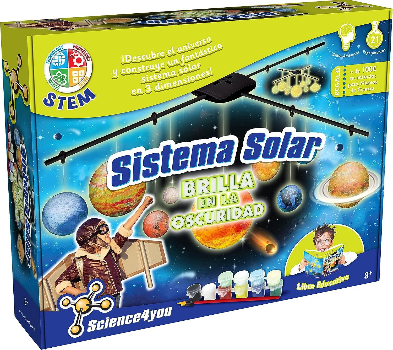 Science4you - sistema solar - brilla en la oscuridad, juguete educativo y científico.