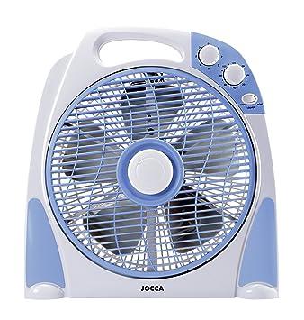 Jocca 2233 Ventilador de sobremesa, Color Azul y Gris, 50 W, Plástico: Amazon.es: Hogar