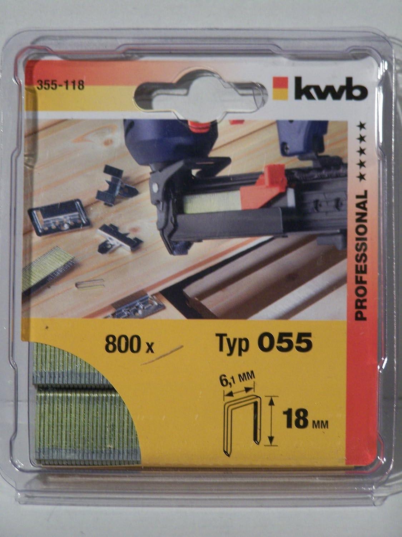 18 mm KWB 49355118 Pack Set de 800 Piezas