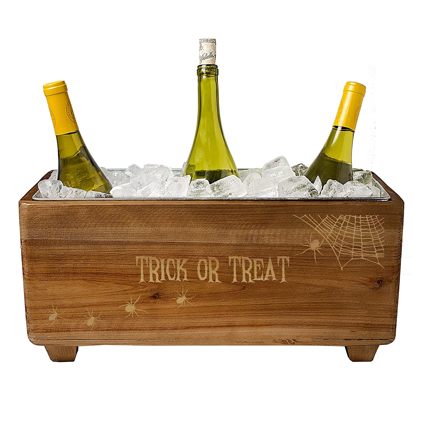 Cathy's Concepts Halloween Wooden Trough Wine Chiller, One Size, Brown Cathy' s Concepts HW-2294SP-ST