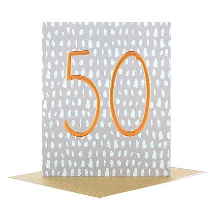 Hallmark 25507462 - Tarjeta de 50 cumpleaños, diseño en ...