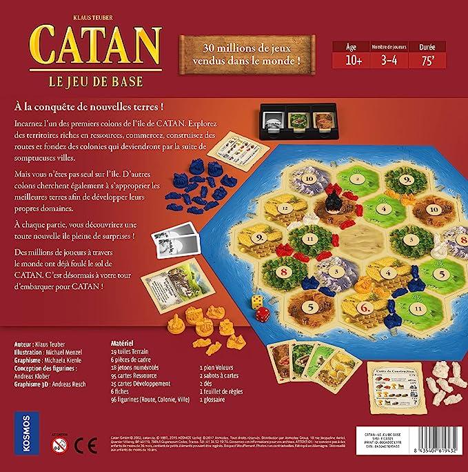 Asmodee Catan, Le Juego de Base – Juego de Estrategia – 3/4 Jugadores: Amazon.es: Juguetes y juegos