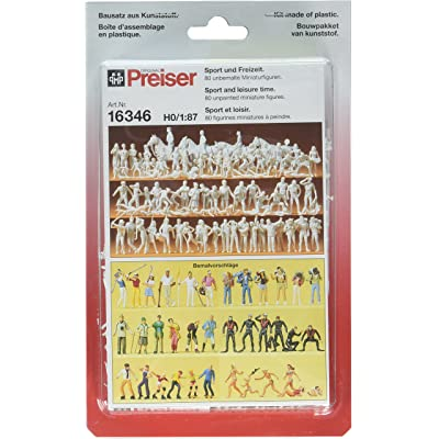 16346 Unpainted Figure Set Sport & Leisure HO Scale Figure: Toys & Games