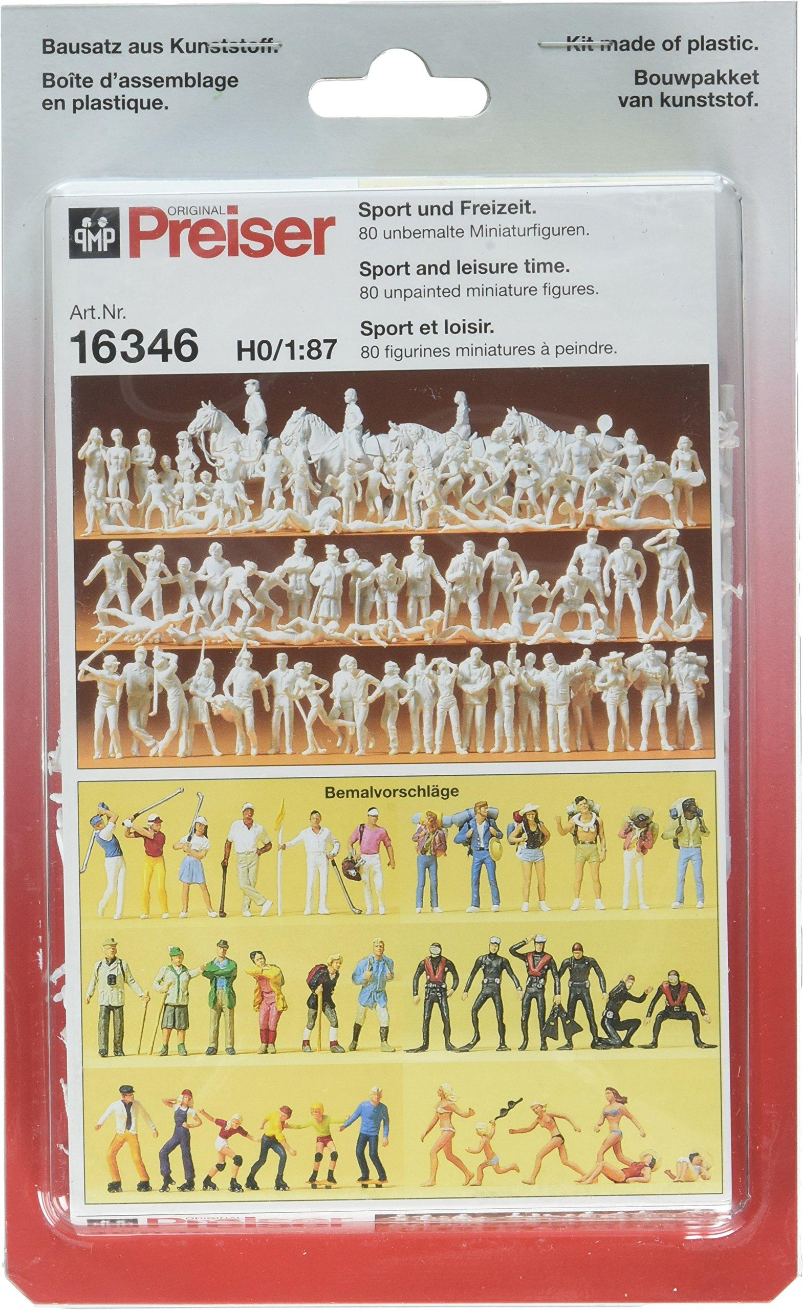 16346 Unpainted Figure Set Sport & Leisure HO Scale Figure