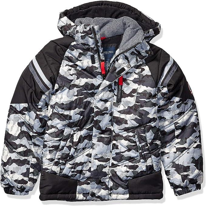 London Fog Regular Fit Solid Blue Cotton Blend Raincoat Coat With Packable Hood