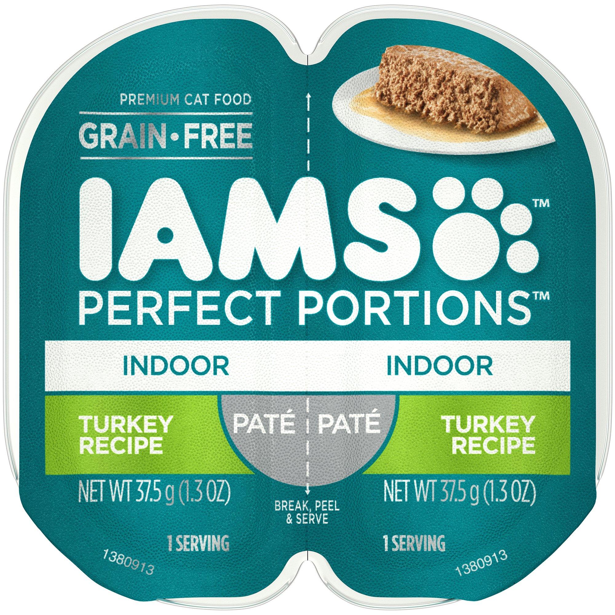 Iams Indoor Grain Free Wet Cat Food, Turkey Pate, 2.6 oz. (24 Twin Packs)