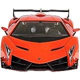 FMT 1/24 Scale Lamborghini Veneno Car Radio Remote Control Sport Racing Car RC,Orange