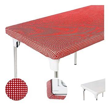 amazon com toptablecloth table cover red white checker elastic on rh amazon com elastic table covers bed bath and beyond elastic table covers bed bath and beyond
