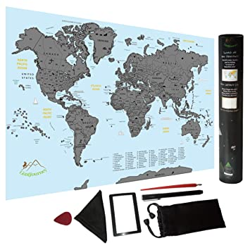 Amazon scratch off world map travel size poster with us scratch off world map travel size poster with us states complete bundle for easy gumiabroncs Choice Image