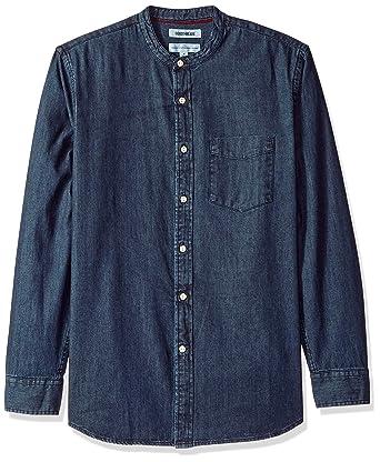 Amazon.com  Goodthreads Men s Standard-fit Long-Sleeve Band-Collar ... 044629c6f