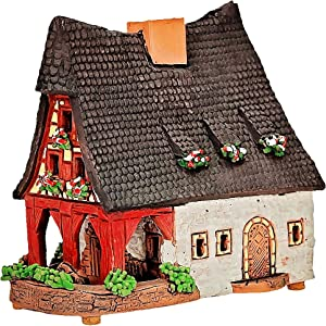 Ceramic Tealight Candle Holder | Miniature Replica of The Original Old Smithery in Rothenburg | A232AR
