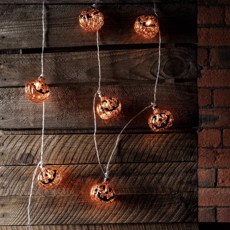 20er blaue Lichterkette Fledermaus für Halloween, batteriebetrieben Lights4fun LL-BAT