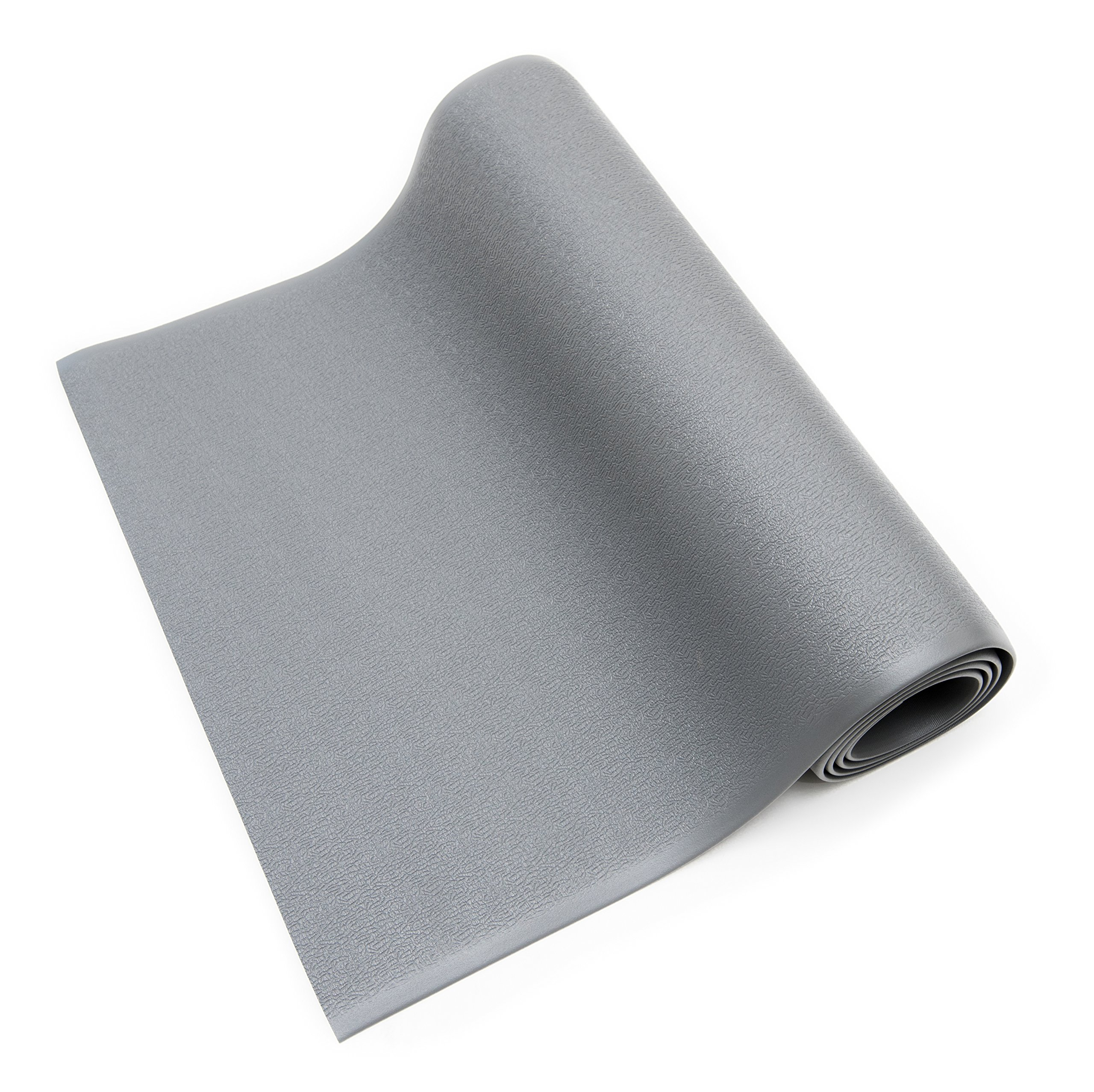 Bertech ESD Anti Fatigue Floor Mat Roll, 3' Wide x 10' Long x 0.375'' Thick, Gray (Made in USA)