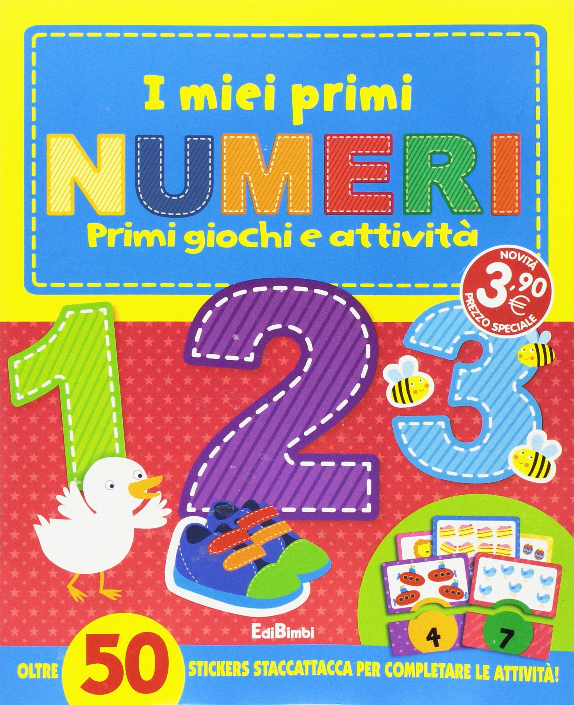 I miei primi numeri. I primissimi. Con stickers