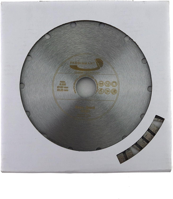 22,2 mm PRODIAMANT Disco de corte de diamante premium hormig/ón l/áser 115 mm PDX821.711 115 mm gris