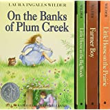 Little House 4-Book Box Set: Little House in the Big Woods, Farmer Boy, Little House on the Prairie, On the Banks of Plum Cre