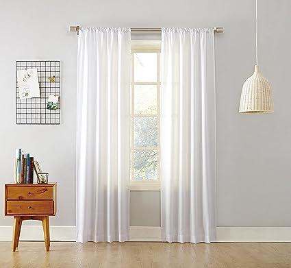 918 Marley Sheer Rod Pocket Curtain PanelWhite40quot
