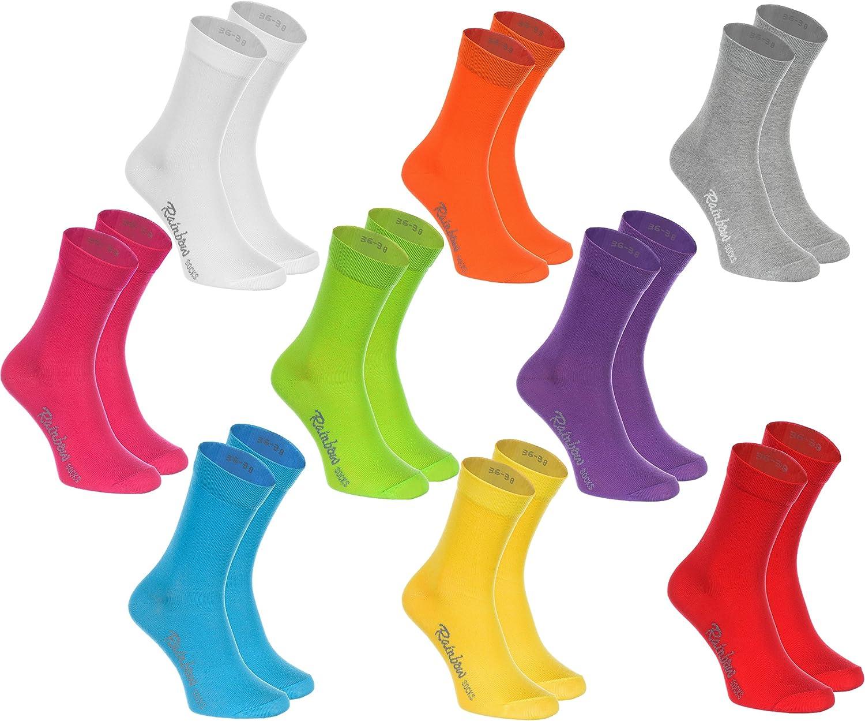 Rainbow Socks - Hombre Mujer Calcetines Colores de Algodón