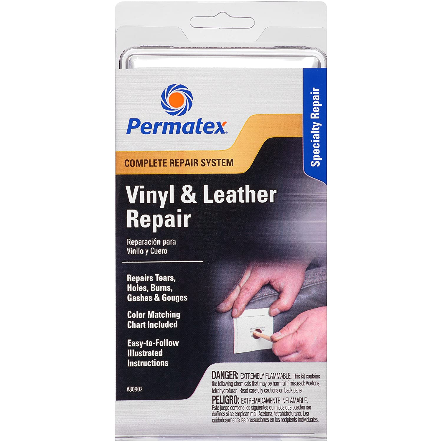Amazon.com: Permatex 80902 Vinyl and Leather Repair Kit: Automotive