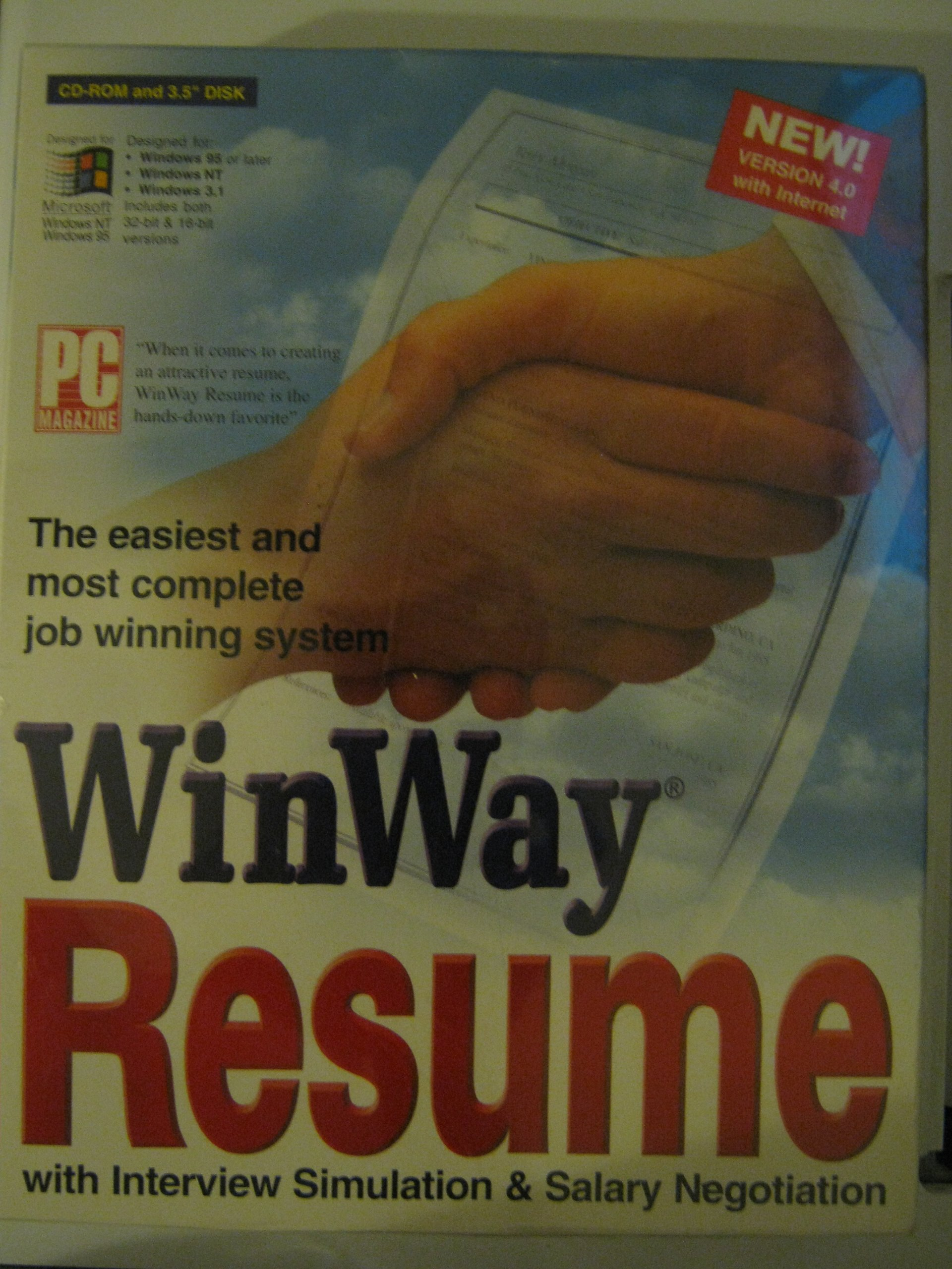 WINWAY RESUME Version 4.0 with internet by WINWAY