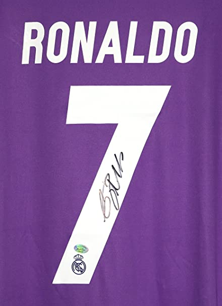 separation shoes 7ab79 2ce49 Cristiano Ronaldo Signed Autographed Real Madrid Fly ...