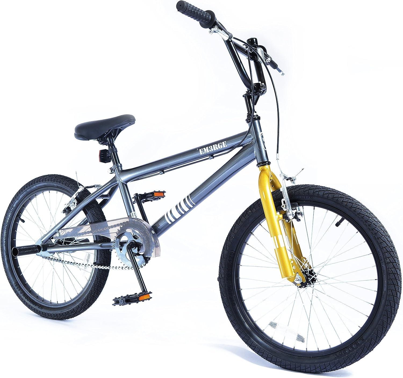 MO36301 Bigfoot Emerge - Bicicleta BMX, color gris y dorado (50,8 ...