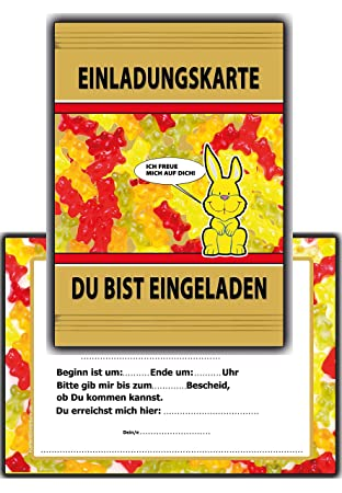 Einladungskarten Kindergeburtstag Lustig Witzig Einladung Kinder Geburtstag    8 Stück